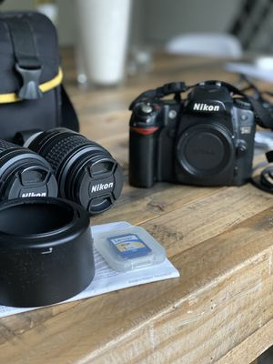 Nikon D80 DSLR with 2 lenses, bag and more for Sale in New Canaan, CT