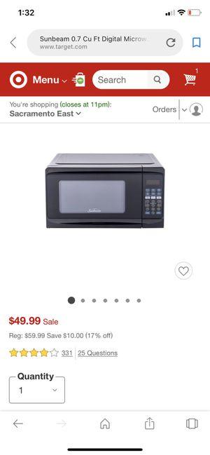 Sunbeam 700 watt microwave for Sale in San Jose, CA
