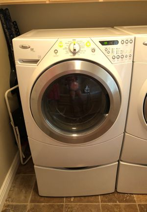 Whirlpool Duet Steam Front-Loading Electric Washer & Dryer With Storage Pedestals for Sale in Fresno, CA