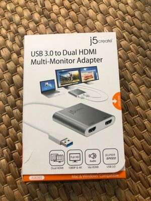 Multi monitor adapter - USB to Dual HDMI for Sale in Aventura, FL