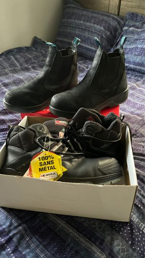 Cofra and Blue Tongue steel toe work boots size 12 for Sale in Cutler Bay, FL