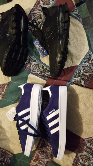 Brand new women's Adidas never been out of the box blue ones are a size 5 the other are size 6 both women 90 for both or 40 for either one for Sale in Providence, RI