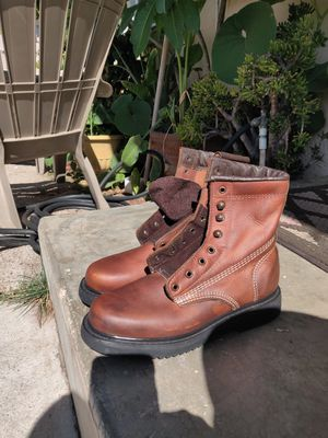 Leather work boots for Sale in Escondido, CA