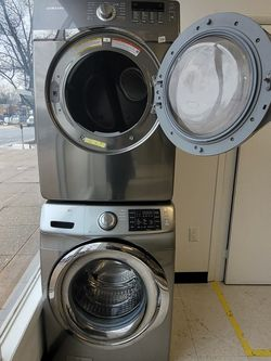 Samsung Front Load Washer And Electric Dryer Set Used In Good Condition With 90day's Warranty for Sale in Mount Rainier,  MD