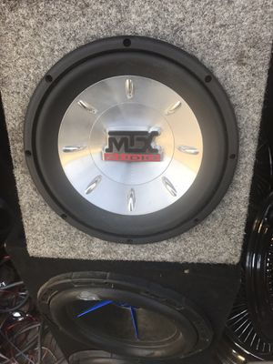 "MTX 10"" thunder 6000 and MTX 502x amp for Sale in Fresno, CA"