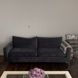 Grey Comfy Couch Comes With Gold Legs And Two Pillows for Sale in Brooklyn,  NY