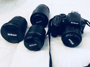 Nikon D3400 w/lenses - items can be sold separately for Sale in Alameda, CA