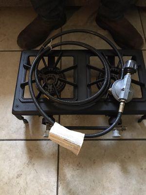 Camping 2 burners propane stove for Sale in Kingsburg, CA