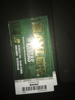 Baylor (Homecoming) vs Kansas for Sale in Waco,  TX