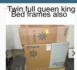 Brand new king queen full twin , every size hybrid gel COOLING. memory foam mattress and bed frame for Sale in Lodi, CA
