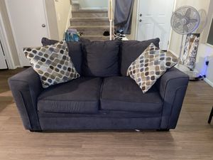 Couches grey with pillows for Sale in Perris, CA