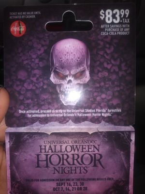 Halloween Horror Nights card for Sale in Fort Myers, FL