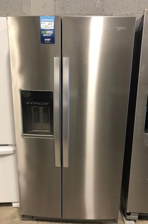 Whirlpool 21 cu ft Side by Side Refrigerator in Fingerprint Resistant Stainless Steel, Counter Depth EZ financing available for Sale in Miami, FL