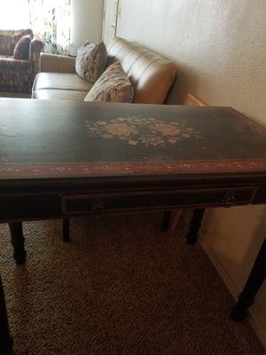 Ornate wooden desk for Sale in Denton, TX