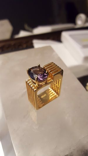 UNIQUE Handmade sculpture-ring Italy gold plated on 925 size 8 ring 💎 SHIPPING ONLY✈️ check more items on my listing ❤️❤️ for Sale in Washington, DC
