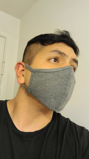 GREY color Double layer cotton face cover. Reusable, Best price and quality around for Sale in Hacienda Heights, CA
