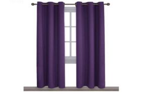 NICETOWN Triple Weave Home Decoration Thermal Insulated Solid Ring Top Blackout Curtains/Drapes for Bedroom(Set of 2, 42 x 84 Inch, Royal Purple) for Sale in Seattle, WA