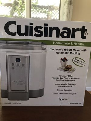 871b534cc5e6 Cuisinart yogurt maker with automatic cooling feature for Sale in Felton
