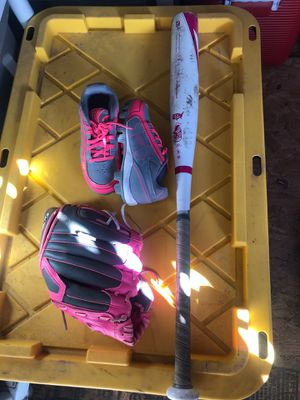 Baseball gloves bat and cleats for Sale in Stockton, CA