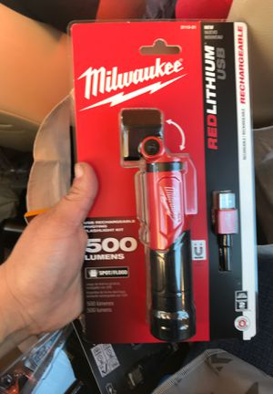 Brend new Milwaukee 500 lumens usb rechargeable for Sale in Oakland, CA