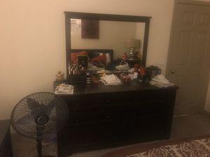 Solid Dark Wood Bedroom Set for Sale in Tempe, AZ