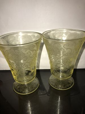 Pair of small desert glasses for Sale in Mooresville, NC