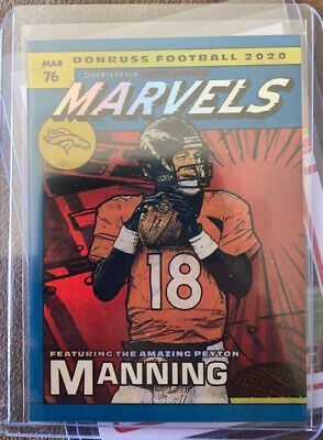 2020 donruss peyton manning marvels mint condition sleeved for Sale in Benbrook, TX