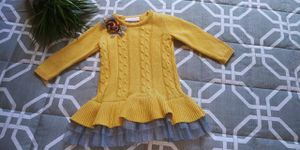 Bonnie Baby girls size 18M yellow cable knit fall autumn sweater dress for Sale in Tacoma, WA