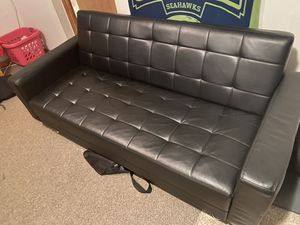 Leather couch futon for Sale in Lacey Township, NJ