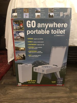 Go Anywhere Portable Toilet - For Camping - Never Used for Sale in Austin, TX