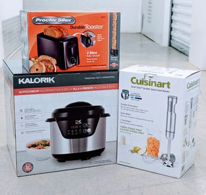 """KALORIK 6-in-1 Stainless Steel Electric Pressure Cooker """"309272661"""" and Cuisinart hand blender (free Toaster) for Sale in Houston, TX"""