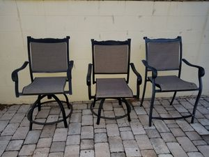 Outdoor patio chairs lawn furniture for Sale in Clearwater, FL