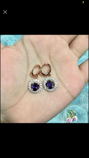 18k rose gold plated earrings jewelry accessory for Sale in Silver Spring, MD