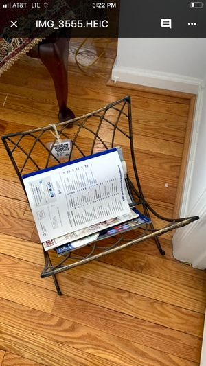Metal Magazine rack for Sale in Reston, VA