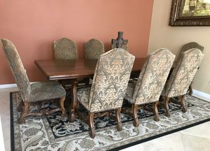 9 piece Lux Dining Set + Area Rug for Sale in San Diego, CA
