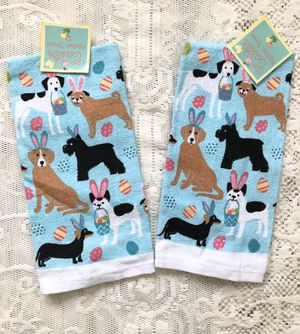 Dog Themed Easter Towels - Set of 2 for Sale in Harrisburg, PA