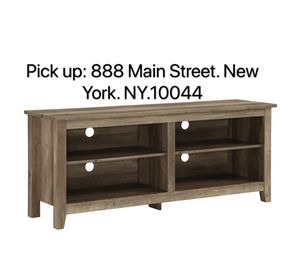 58-inch TV Stand Console with Adjustable Shelving - Grey Wash for Sale in New York, NY