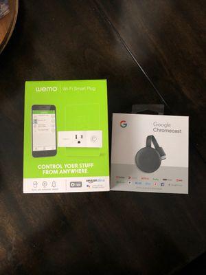 Google Chromecast and wemo for Sale in Huntington Beach, CA