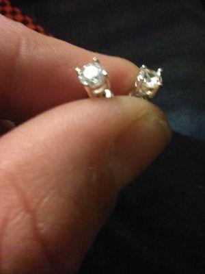 14k white gold 1/4ct T. W. Diamond earrings for Sale in Modesto, CA