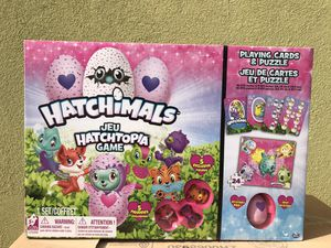 Hatchimals Hatchtopia Game, Playing Cards, and Puzzle Bundle for Sale in Phoenix, AZ