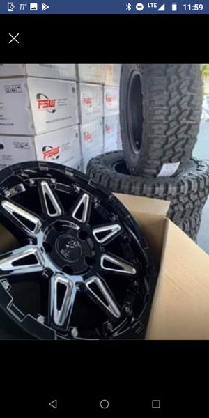 """17"""" BLACK RHINO PACKAGES Black Rhino """" Rush """" Wheels & Tires NEW - IN STOCK TODAY 4 Rims 4 Tires For Jeeps 5x127 Only $1099 for Sale in Huntington Beach, CA"""