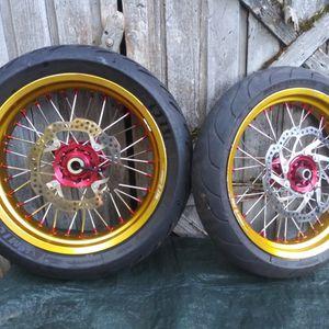 Warp 9 Elite Supermoto wheels for Sale in Hillsboro, OR