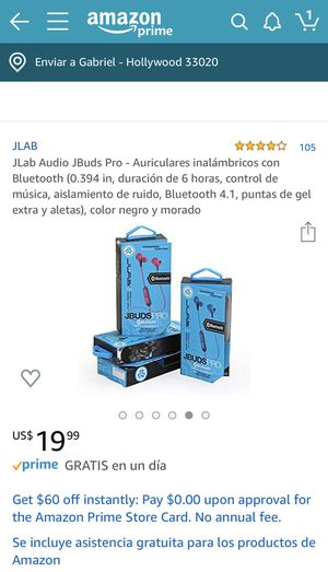 Wireless rugged earbuds Jlab new for Sale in Hollywood, FL
