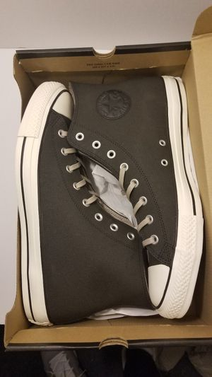 Black Coated Leather Converse Size 13 for Sale in Queens, NY