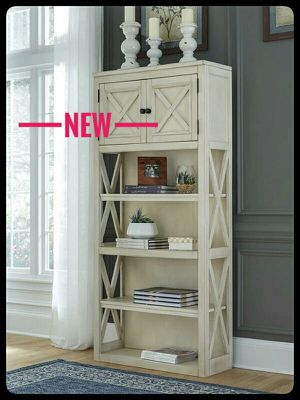 🆕Ashley🆕 Bolanburg White/Oak Large Bookcase for Sale in Baltimore, MD