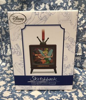 NEW RARE Disney Store Wonderful World of Disney Light-Up Tinkerbell Sketchbook Christmas Ornament Limited Edition Brand NEW NEVER OPENED Perfect Gift for Sale in Phoenix, AZ