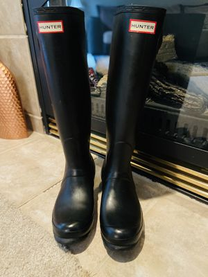 Hunter Boots Black Size 8 for Sale in Puyallup, WA