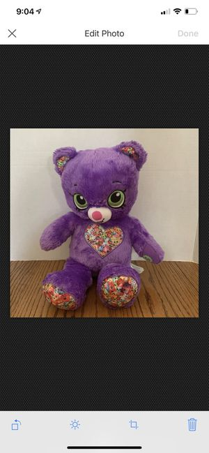 """Limited Edition Shopkins Build A Bear Purple 16"""" With Green Eyes for Sale in Baltimore, MD"""