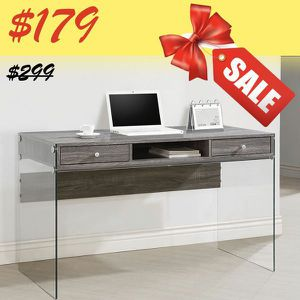 Clear Writing/Office Desk with 2 Drawers for Sale in Los Angeles, CA