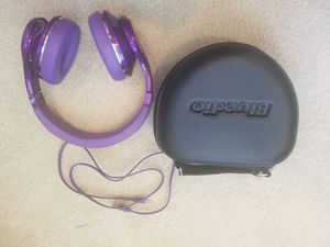 Rad pair of purple Bluedio (UFO) wireless bluetooth headphones. Almost brand new. for Sale in San Diego, CA
